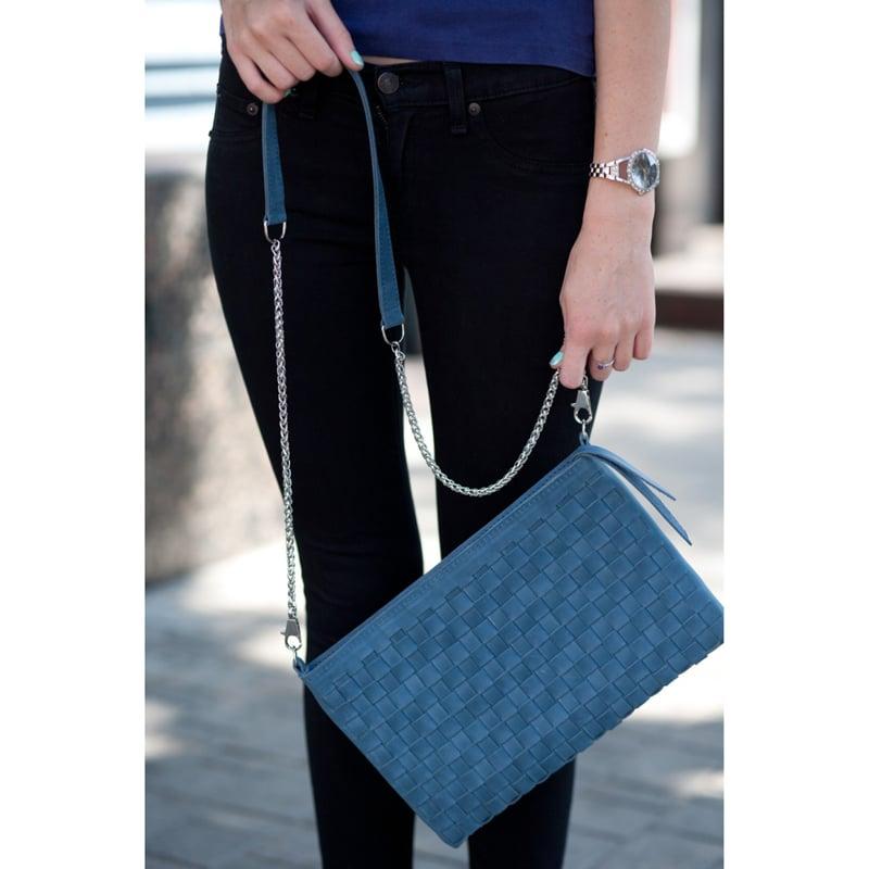 Сумка женская Handmade Blue Leather