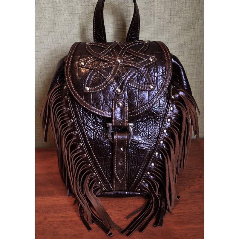 Рюкзак кожаный авторский DARK CHOCOLATE