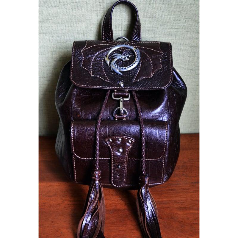 Рюкзак кожаный в подарок DRAGON