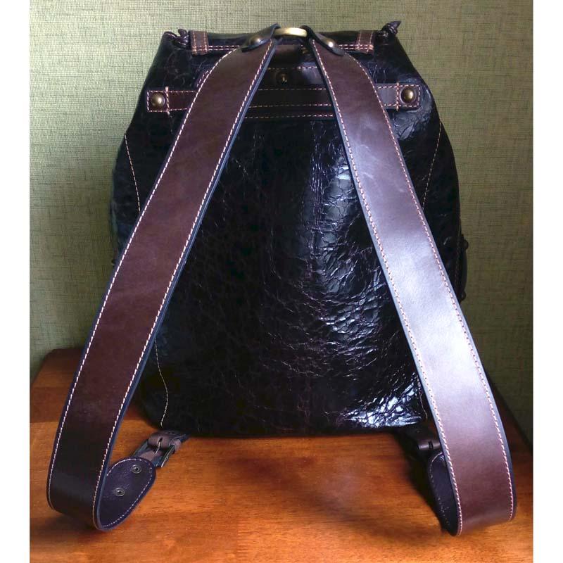 Рюкзак унисекс кожаный в подарок STEAMPUNK