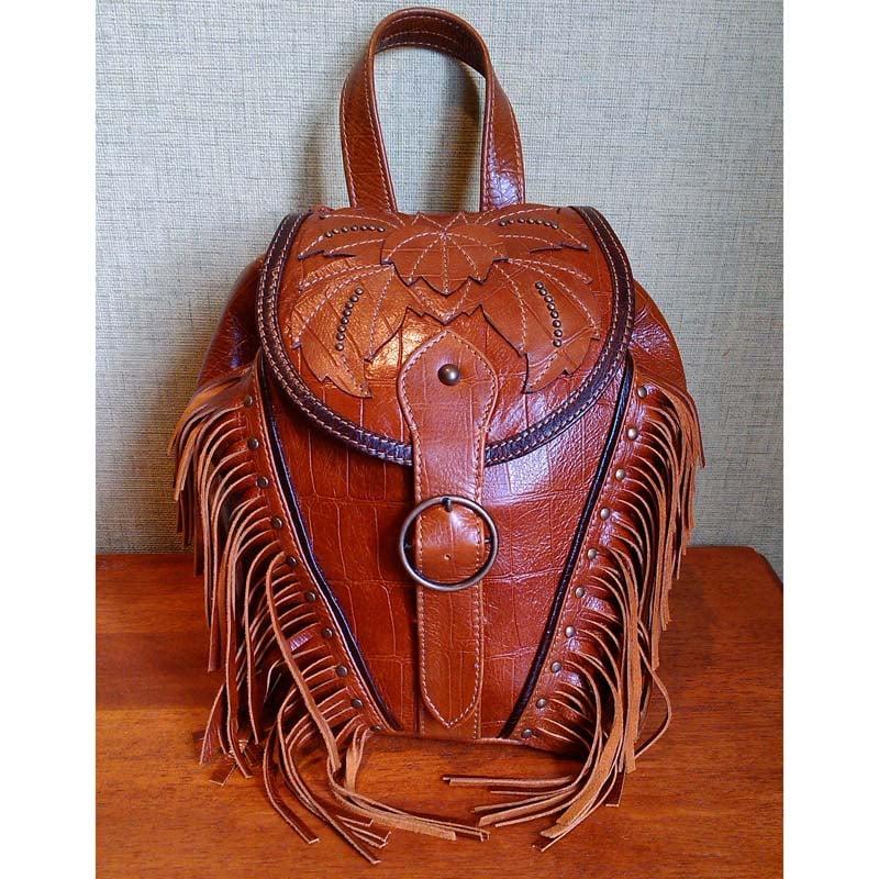 Рюкзак жіночий шкіряний AUTUMN MAGIC