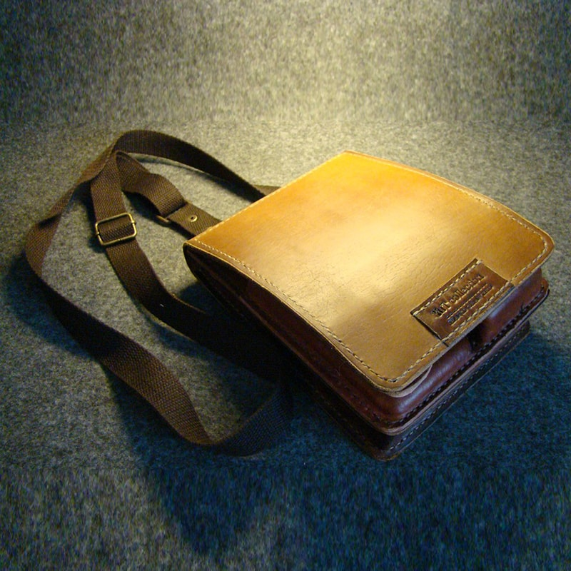 Шкіряна чоловіча сумка через плече