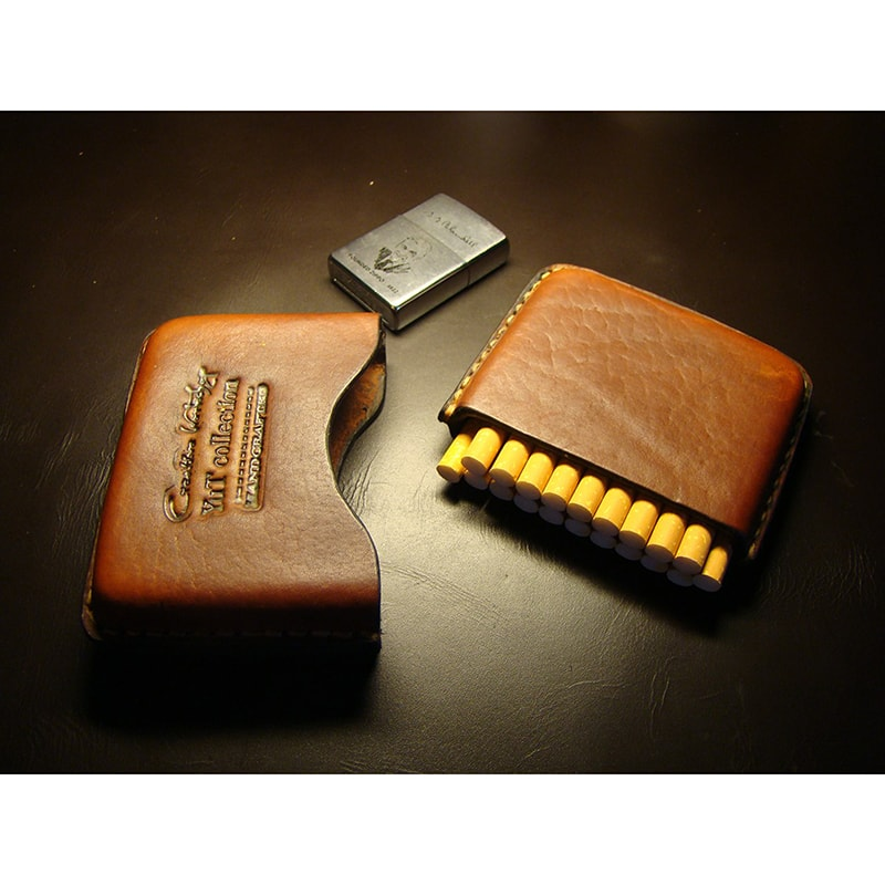 Кожаный портсигар handmade