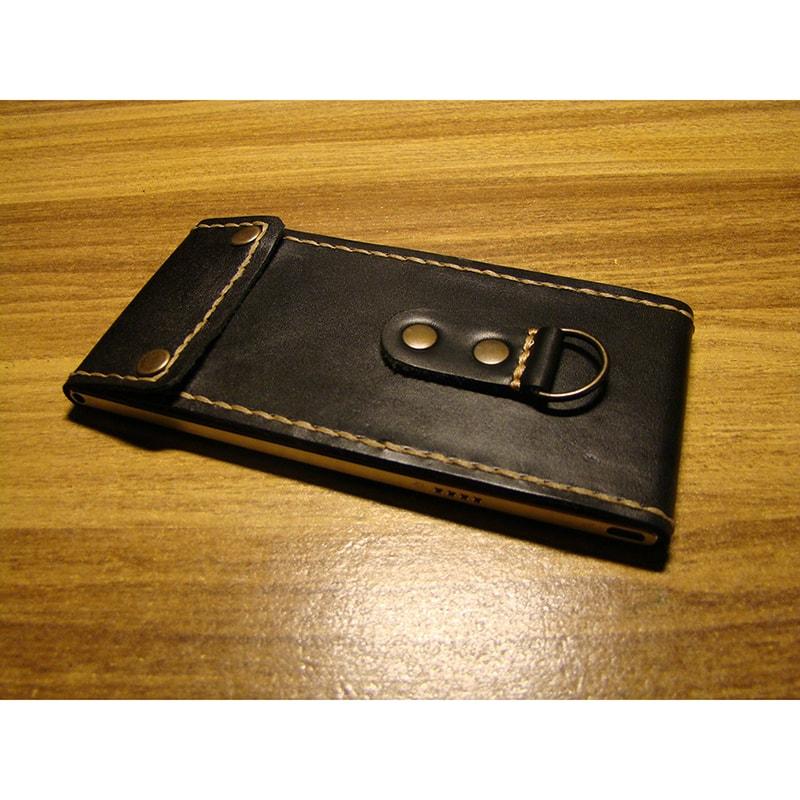 Флип чехол для смартфона (все модели) кожаный
