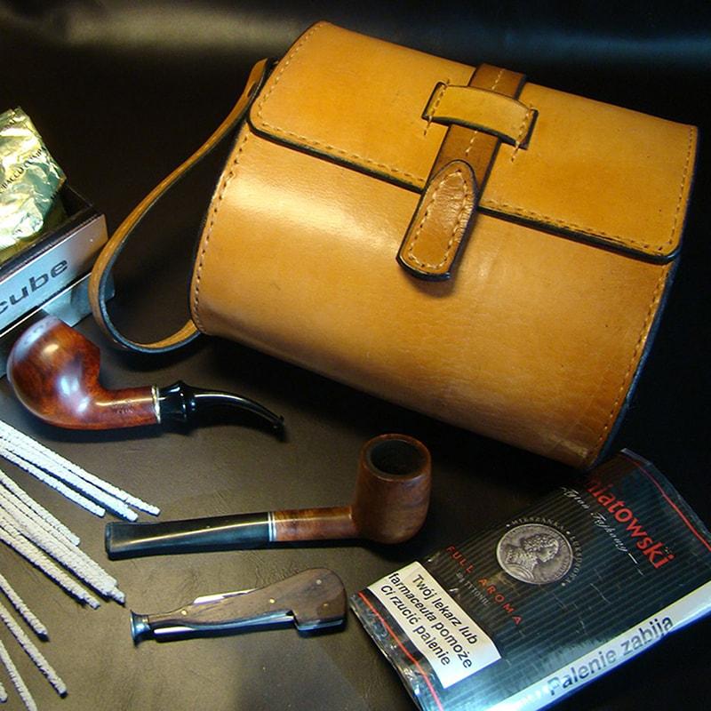 Кофр кожаный для трубок Tobacco