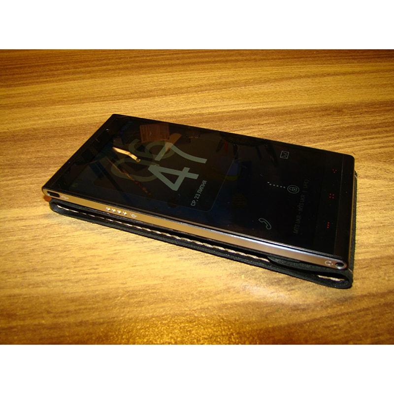 Фліп чохол для смартфона (всі моделі) шкіряний