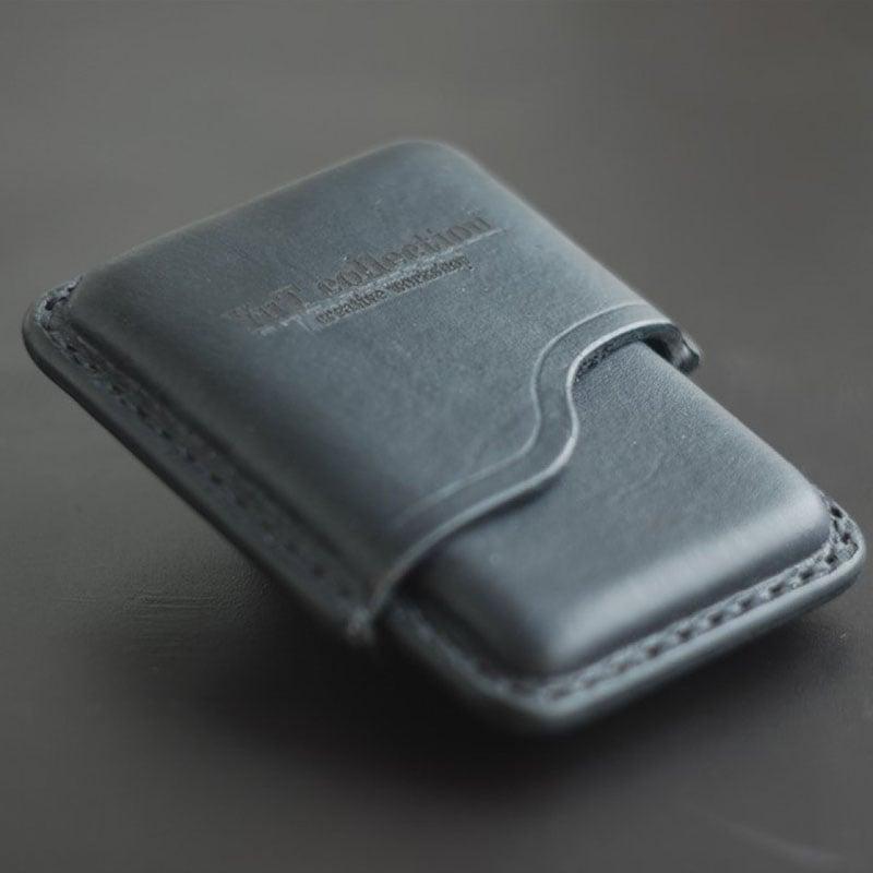 Кожаный портсигар handmade в подарок Slim Black Leather