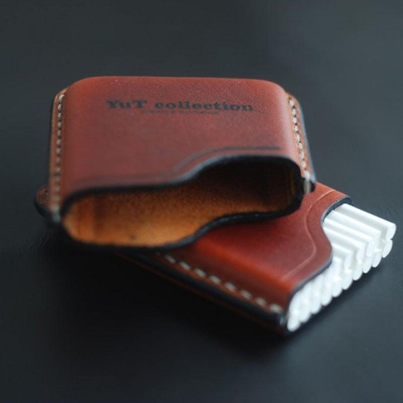 Кожаный портсигар в подарок Slim Brown Leather