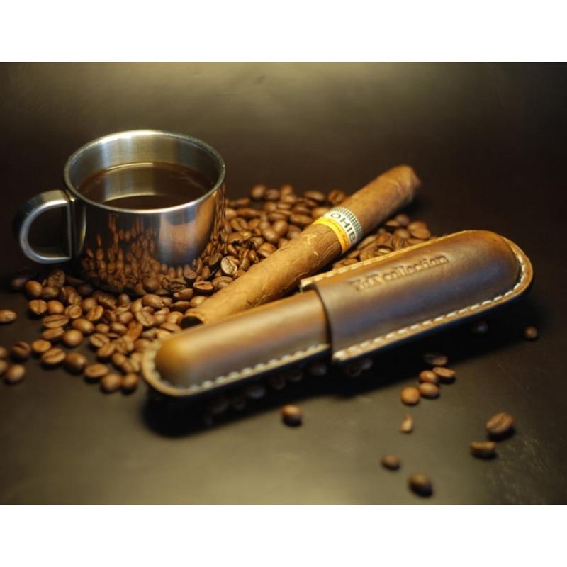 Дизайнерский футляр кожаный для сигары в подарок Style