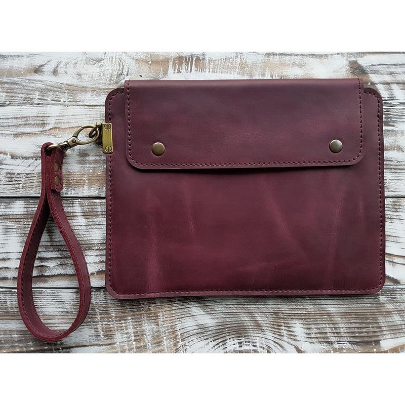 Защитный чехол handmade для планшета Sonora Bordeaux Leather