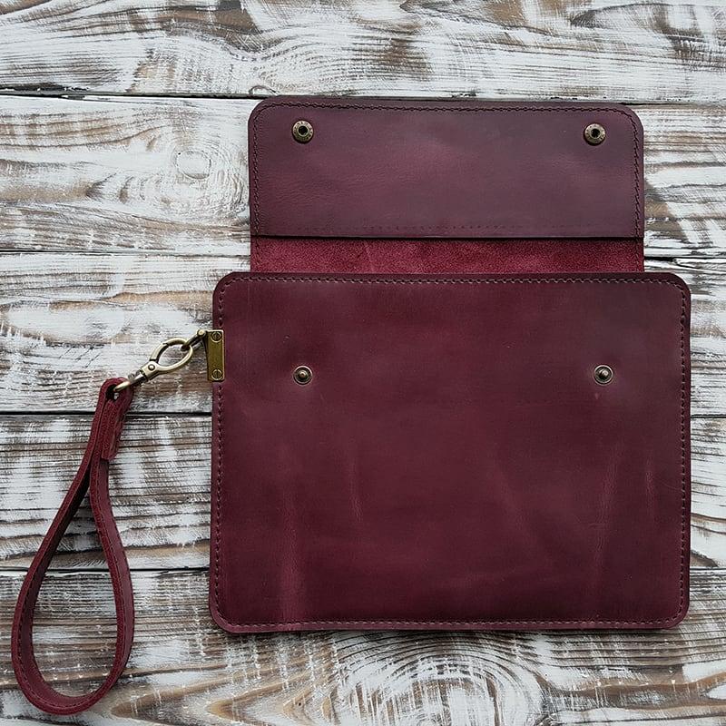 Захисний чохол handmade для планшета Sonora Bordeaux Leather