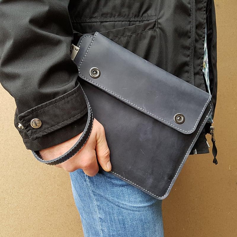 Авторский чехол для планшета Namib Black Leather