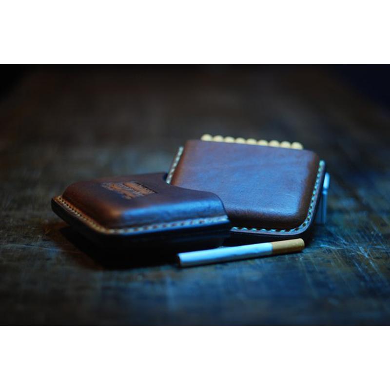 Кожаный портсигар в подарок brown leather