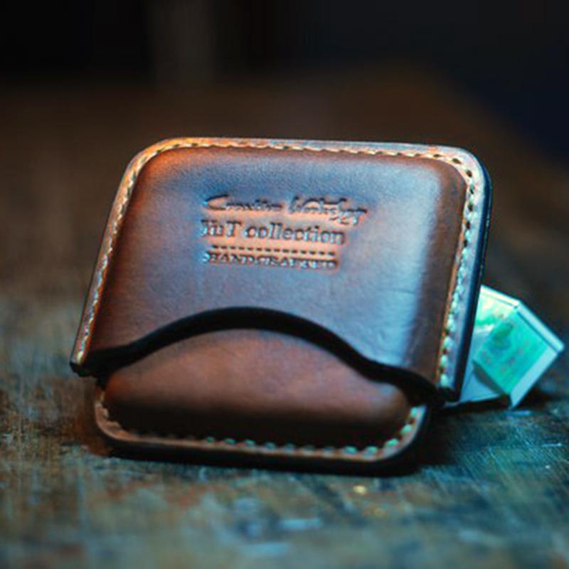 Шкіряний портсигар в подарунок brown leather
