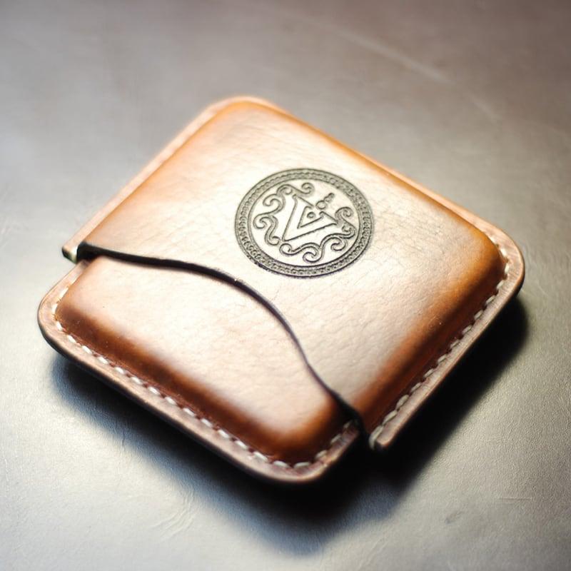 Шкіряний портсигар Cigarette brown leather case