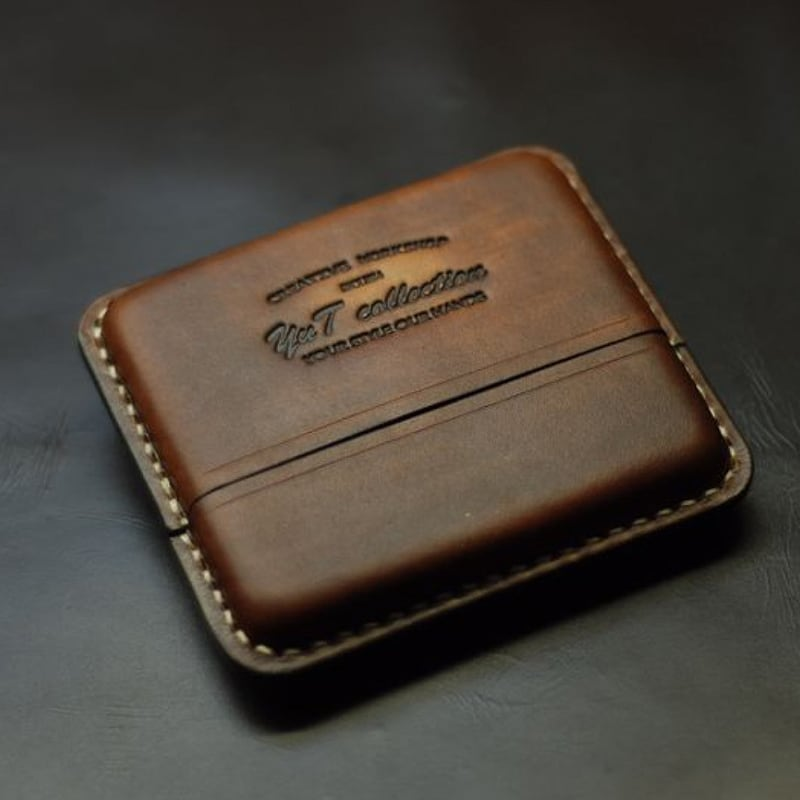 Шкіряний портсигар Super slims-100 brown leather