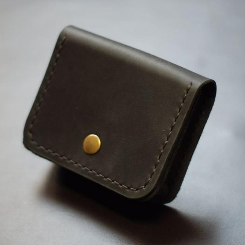 Шкіряний гаманець Multifunction black leather