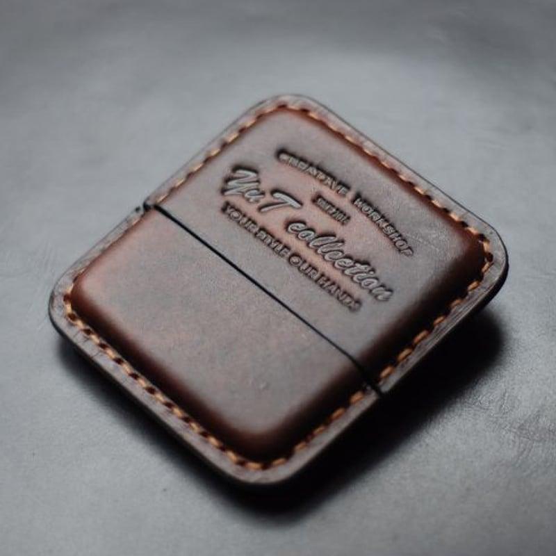 Кожаный портсигар Cohiba Club black leather