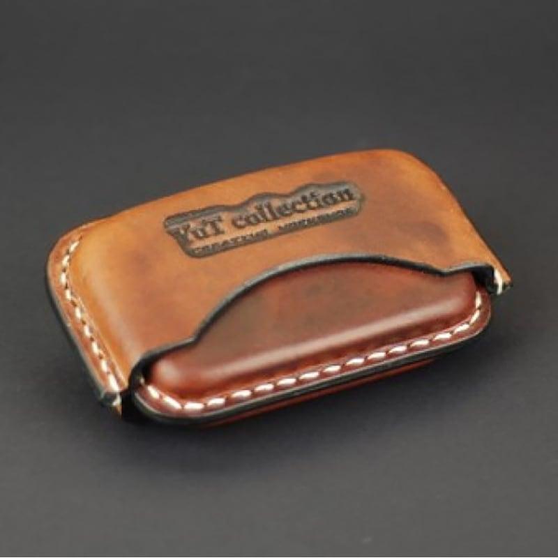 Кожаный портсигар IQOS HEETS 22 brown leather