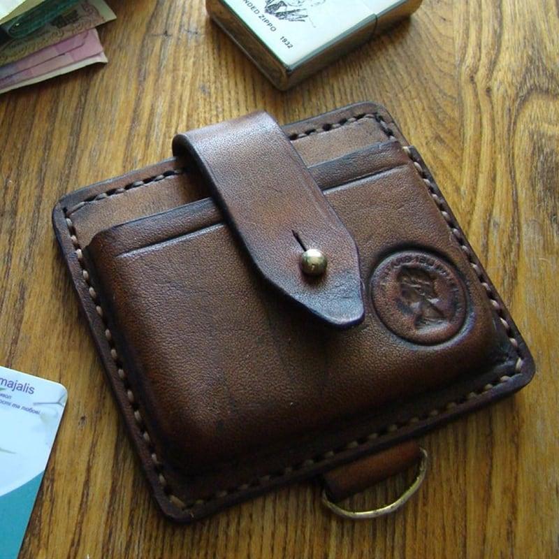 Шкіряний чоловічий гаманець Нolster brown leather