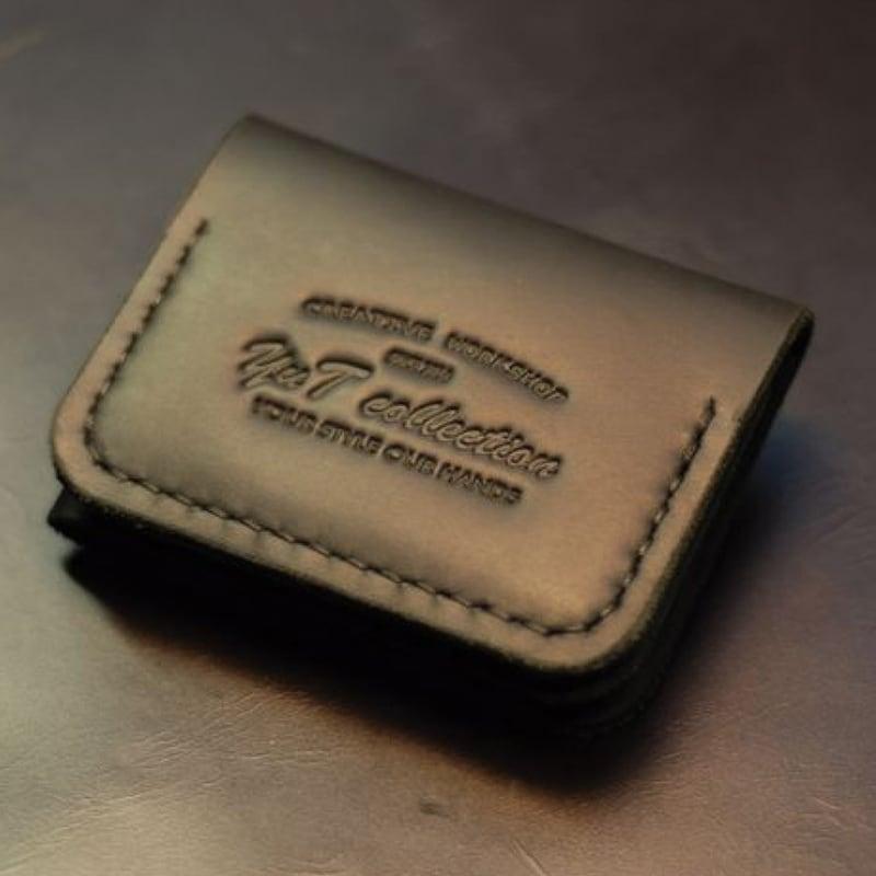 Мужской кожаный кошелек Compact black leather