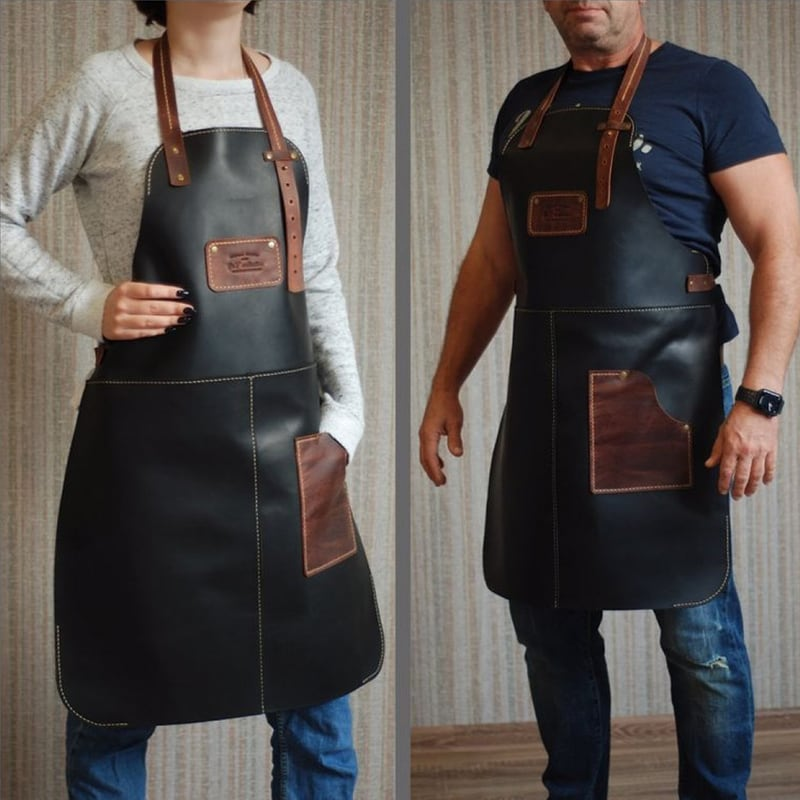 Фартух Шкіряний Professional black leather