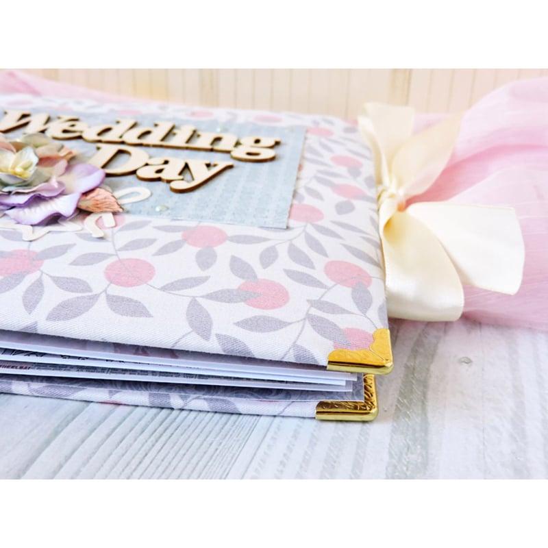 Дизайнерский свадебный фотоальбом в подарок Wedding Day