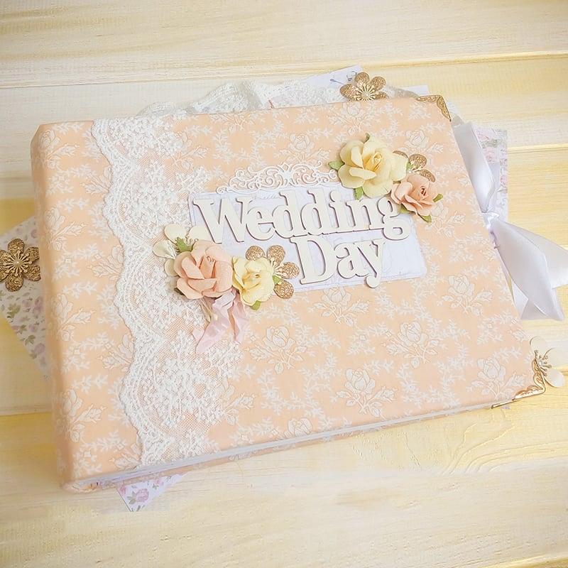 Скрапбукинг свадебный альбом Peach Wedding Day