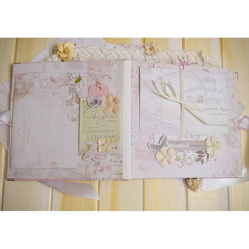 Скрапбукинг свадебный альбом Pink Wedding Day