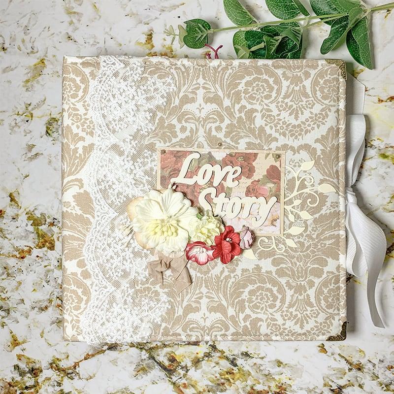 Свадебный скрапбукинг альбом История Любви