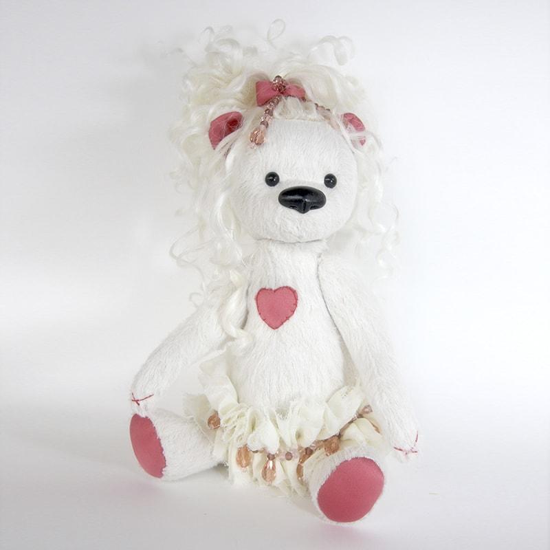 Колекційна лялька handmade Ведмедик Поллі