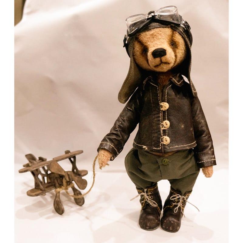 Авторская игрушка Мишка Тедди Авиатор