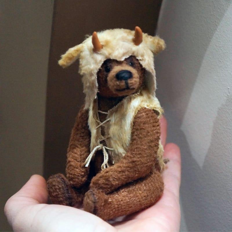 Дизайнерская игрушка handmade Тедди Викинг