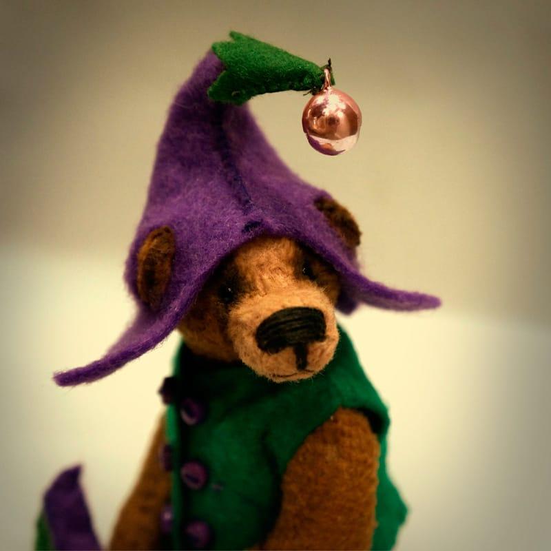 Подарунок handmade Ведмедик Тедді Бузковий Ельф