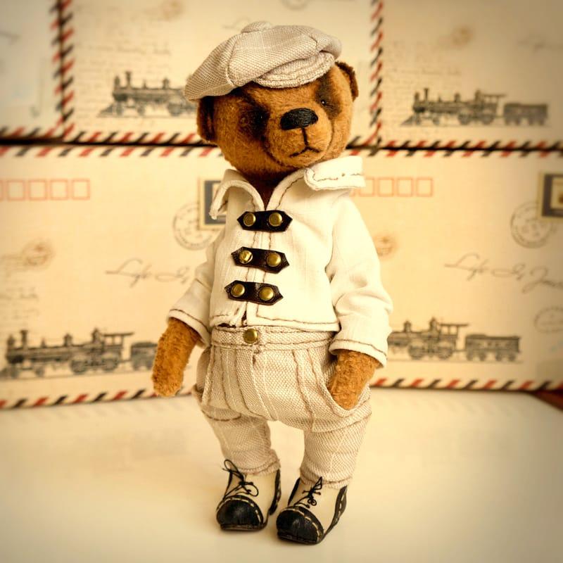 Дизайнерский Мишка Тедди в подарок Стиляга