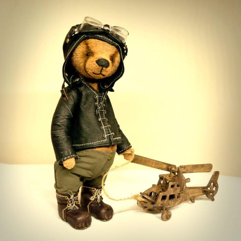 М'яка іграшка Ведмедик Тедді Вертолітник