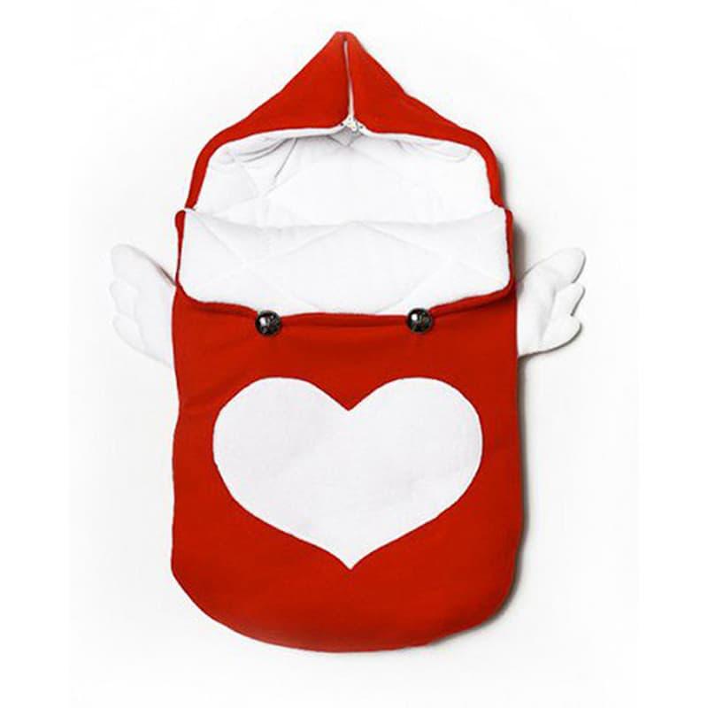 Конверт для новорожденного handmade Ангелочек красный
