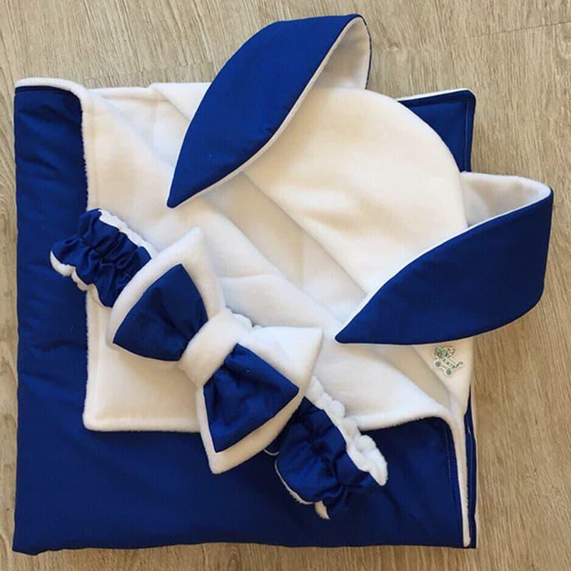 Конверт-одеяло для новорожденного в подарок Зайка