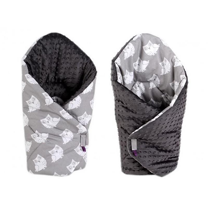Конверт одеяло двубортный handmade Сова серый