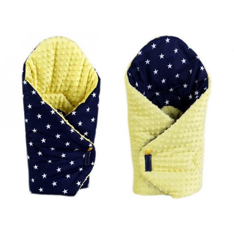 Конверт одеяло двубортный в подарок Звезды синий