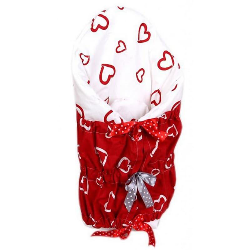 Конверт-одеяло на выписку для девочки Сердце мое
