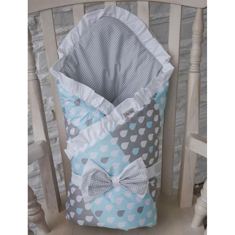 Конверт одеяло для новорожденного мальчика Дождик