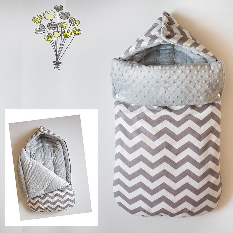Зимовий конверт для новонародженого handmade Пастель