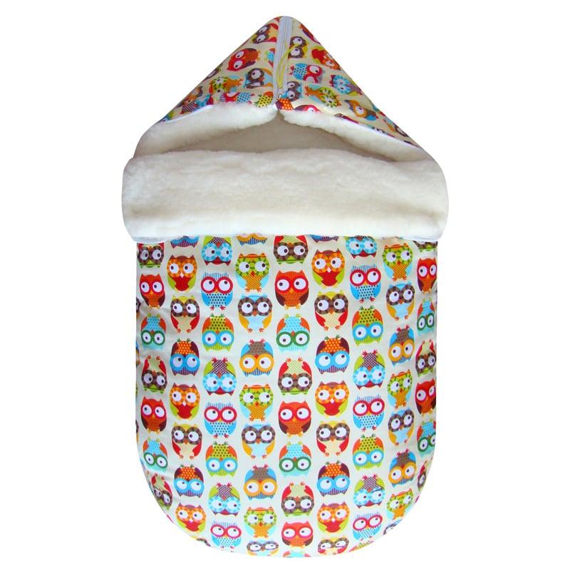 Теплый конверт для новорожденного handmade Веселая Сова