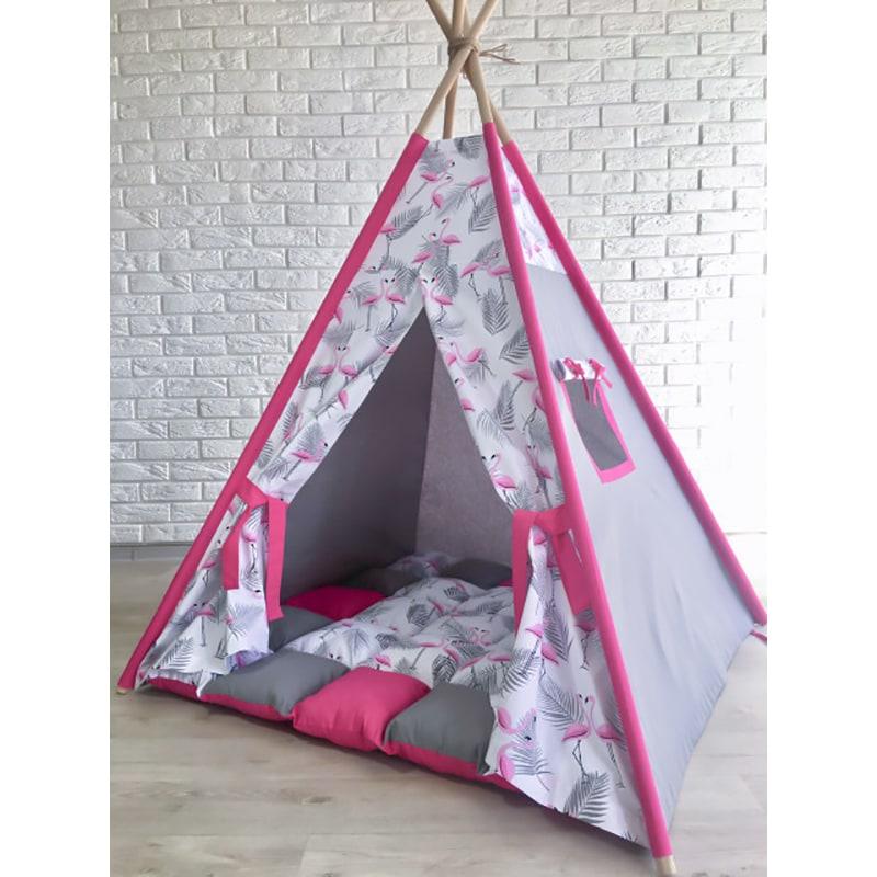 Палатка вигвам для девочки Розовое Перо