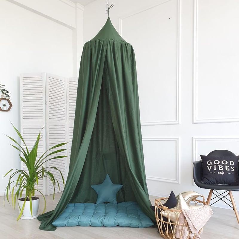 Палатка детская игровая Вaldachin Nephritis green satin