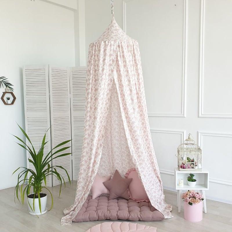 Палатка шатер Вaldachin French Rose pink satin