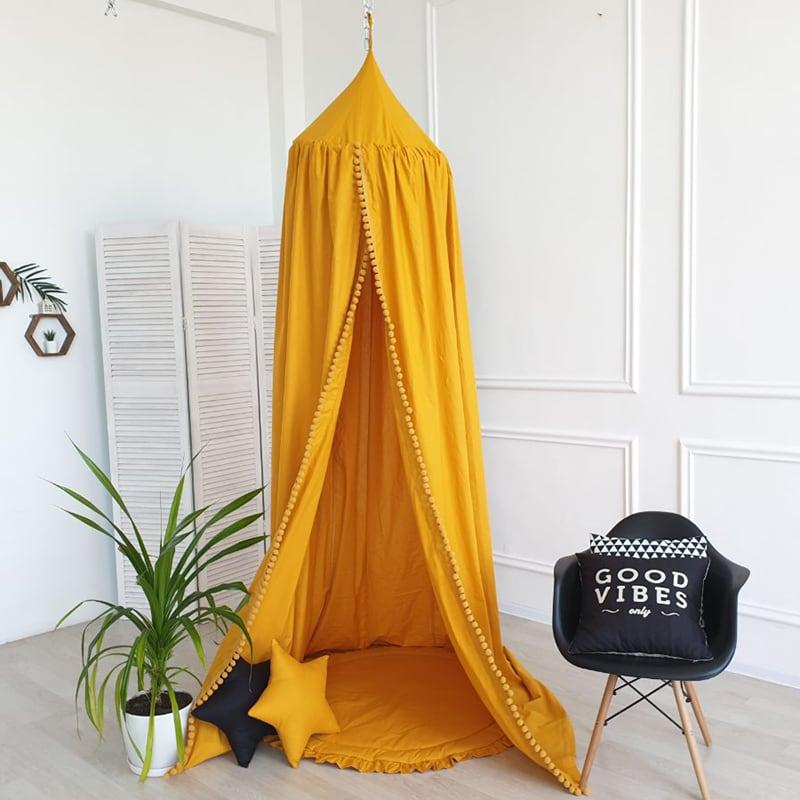 Детская палатка домик Вaldachin Orange yellow satin