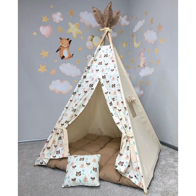 Детская палатка вигвам Найра - Большие Глаза. Комплект 5 в 1