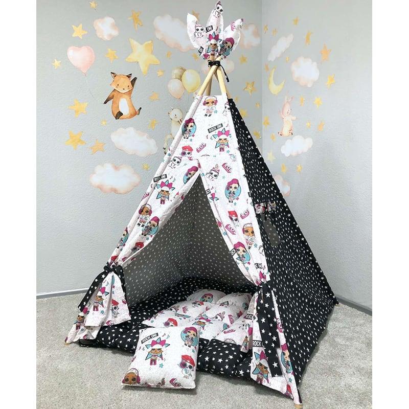 Детская палатка вигвам Нефритовые Одежды. Комплект 5 в 1